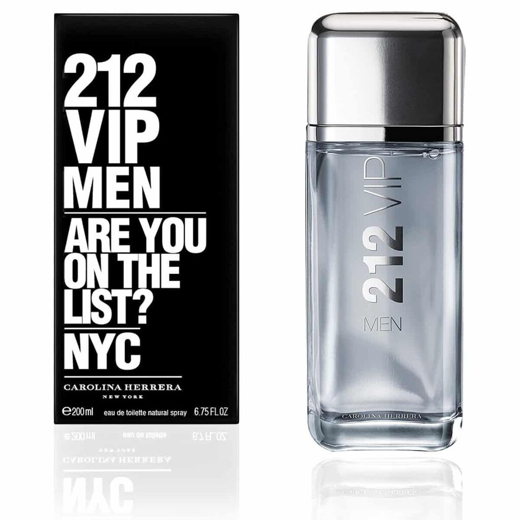 Perfume Masculino 212 VIP Men Carolina Herrera Eau de Toilette 200ml – Incolor