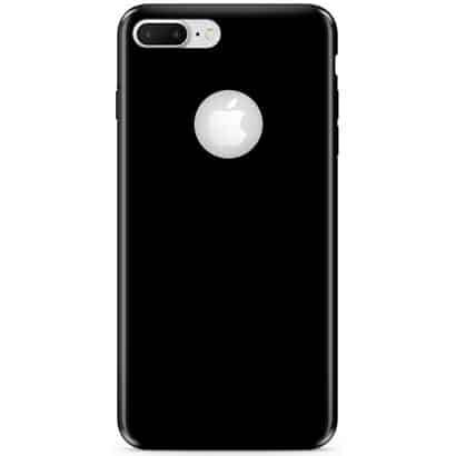 Capa iPhone 7 Plus, Silicone Preto, Liquid, Pong