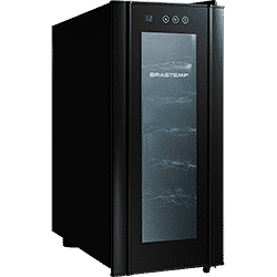 Adega Climatizada Brastemp Wine Cooler BZC12 All Black 12 Garrafas